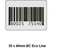 Checkpoint 3510 ECON BC 30 x 40 mm dummy barcode (1000 stickers op een rol) Prijs per rol: