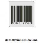 Checkpoint 3810 ECON BC 30 x 30mm dummy barcode (1000 stickers per rol). Prijs per rol: