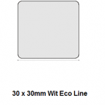 Checkpoint 3810 ECON CL 30 x 30mm wit (1000 stickers per rol). Prijs per rol:
